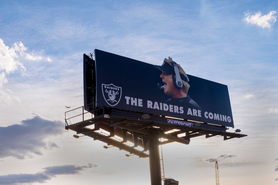 The Raiders Are Coming Sign
