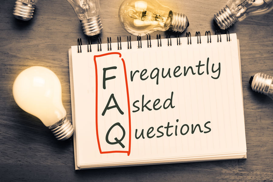 Below are some frequently asked questions we receive. Please call us for more information. Photo credit ShutterStock.com, licensed.
