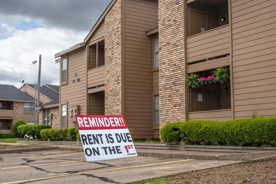 Rent Reminder Sign